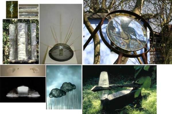 Eksempler på blandform PT. udstillet i og udenfor Galleriet